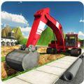 重型挖掘机起重机模拟器3D游戏官方手机版 v1.0